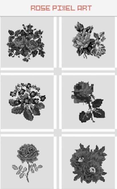 玫瑰花像素艺术图3