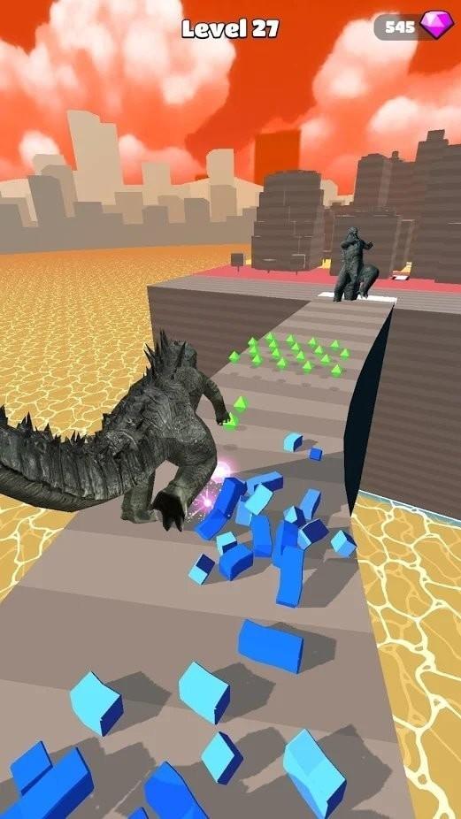 怪兽跑酷kaiju run单机版图1