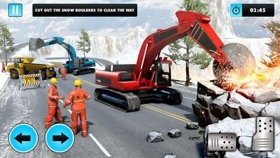 雪地挖掘机模拟器图3