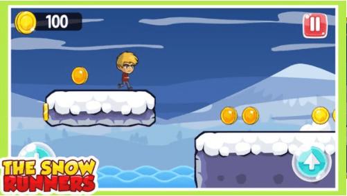 雪人跳跃跑单机版图3