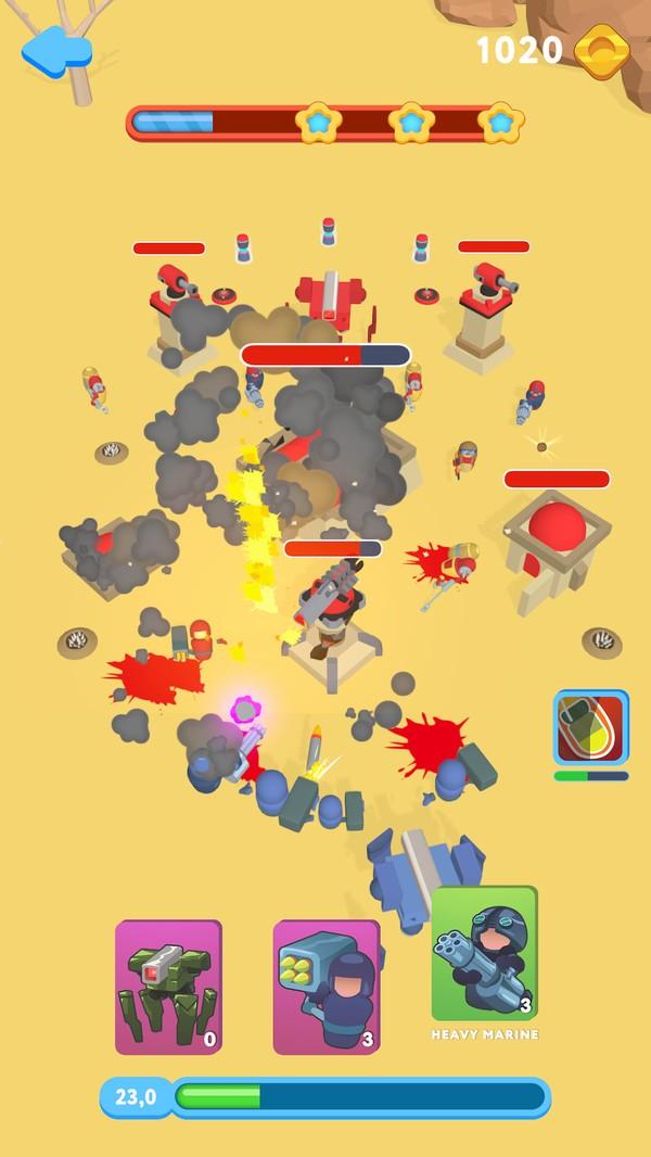 堡垒英雄战争单机版图1
