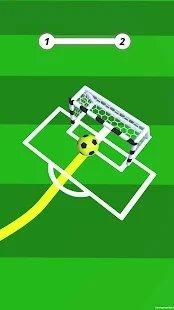 想进入球门的足球图1