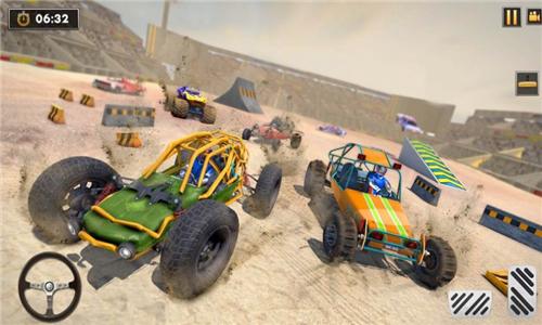 沙丘越野车撞车特技图2
