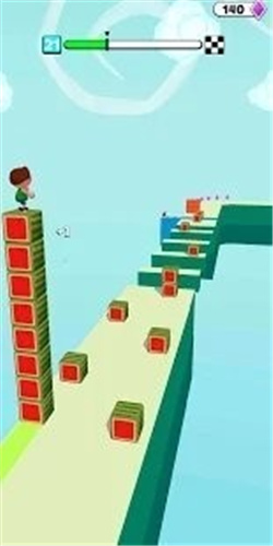 立方体塔堆积