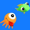魷魚吃魚跑