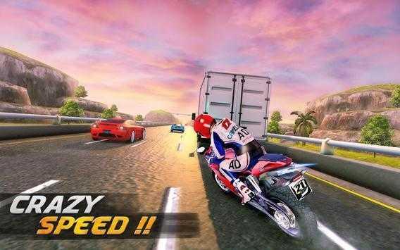 极端高速公路摩托车赛跑图3