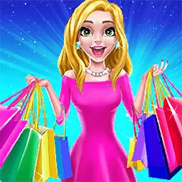 时尚购物达人商场女孩