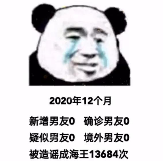 2020年12个月新增男友0确诊男友0疑似男友0表情包